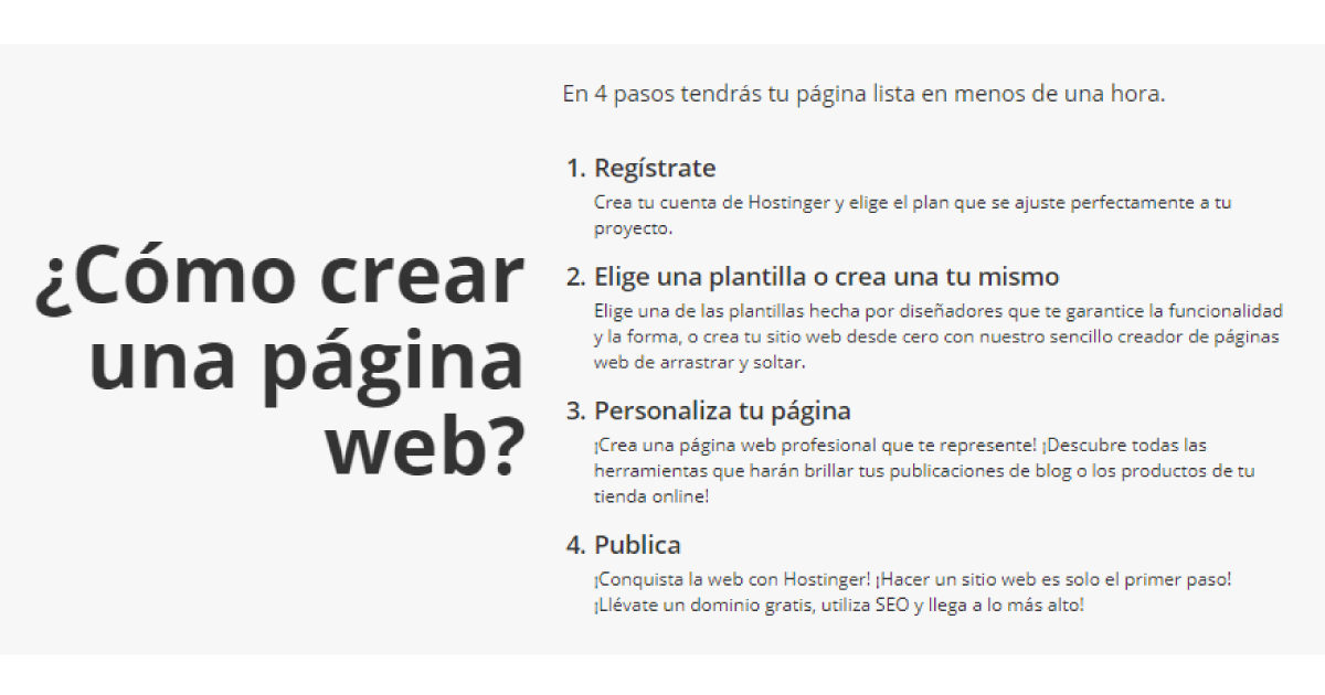 Hostinger- como crear tu web